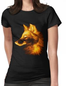 Gold wolf Womens Fitted T-Shirt