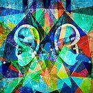 Colorful Modern Art Titled -Listener by artonwear