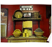 A country kitchen display Poster
