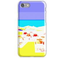 Blue skies, beach and sun iPhone Case/Skin