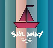 "horizontal ship background ""Sail away"" by megaspy"