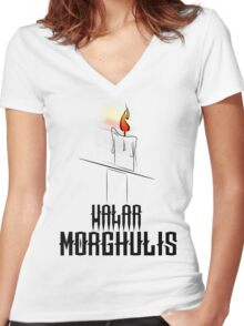 Game of Thrones - Valar Morghulis Women's Fitted V-Neck T-Shirt