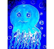 Jelly Fish Love in the Deep Blue Sea Photographic Print