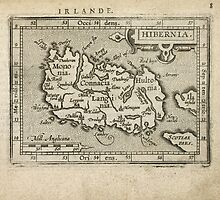 Antique Map of Ireland from 1603 by bluemonocle