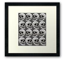 Skull Lines Framed Print