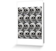 Skull Lines Greeting Card