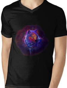Wild wolf Mens V-Neck T-Shirt