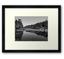 The bridge to nowhere  Framed Print