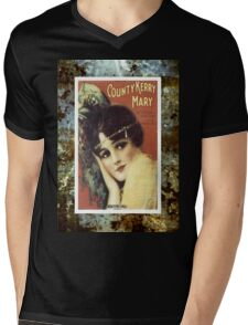 Country Kerry Mary Flapper Vintage Sheet Music Mens V-Neck T-Shirt
