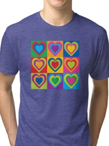 Pop Art Hearts Tri-blend T-Shirt