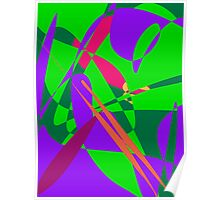 Blue and Green Abstract Composition Poster