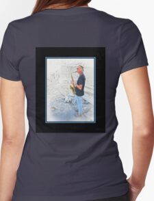 Mykonos Maxine & The Sax Player Womens Fitted T-Shirt