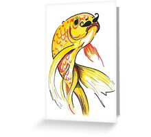Fish with Moustache Greeting Card