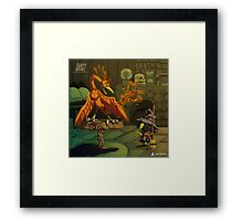 The Witch and The Phoenix Framed Print
