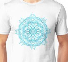 Turquoise Blue Mandala Zendoodle Unisex T-Shirt