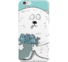 Bear and the catch iPhone Case/Skin