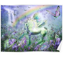 Unicorn Of The Butterflies Poster
