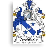 Archibald Coat of Arms / Archibald Family Crest Canvas Print