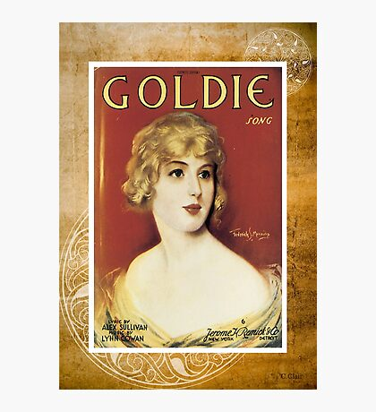 Goldie Song Victorian Woman Vintage Sheet Music Photographic Print