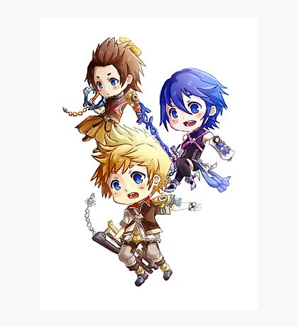 Kingdom Hearts Birth By Sleep: Chibi Photographic Print