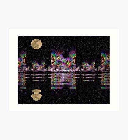 Fractal City Nights Art Print