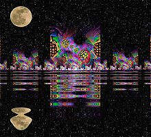 Fractal City Nights by James Brotherton