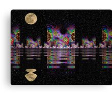 Fractal City Nights Canvas Print