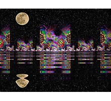 Fractal City Nights Photographic Print