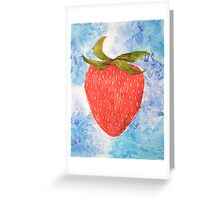 FRUIT series: Strawberry Greeting Card
