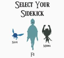 Select your sidekick (Zelda) by SetInIridium
