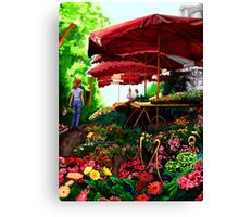 Marche Aux Fleur Canvas Print