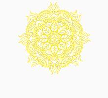 Lemon Yellow Mandala Zendoodle Design Unisex T-Shirt