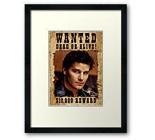 Angel David Boreanaz Buffy Wanted Framed Print