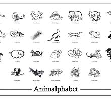 Animalphabet - (Hand-Drawn by GEORGE VRANJKOVIC) by MoGeoPhoto