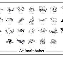 Animalphabet - (Hand-Drawn by GEORGE VRANJKOVIC) by MoGeoPhoto