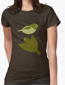 Little birds - design of nature Womens Fitted T-Shirt