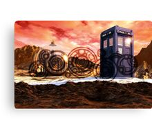 Doctor Who - Tardis, Gallifrey and Doctor's Name Canvas Print