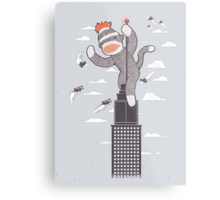 Sock Monkey Just Wants a Friend Metal Print