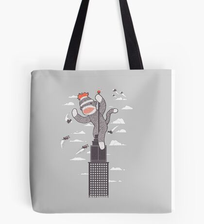 Sock Monkey Just Wants a Friend Tote Bag