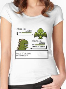 Wild CTHULHU Appears!  Women's Fitted Scoop T-Shirt