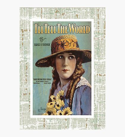 I'll Tell The World Vintage Piano Sheet Music Photographic Print