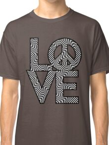 Checkered LOVE=Peace Classic T-Shirt