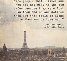 Hemingway in Paris by Maren Misner