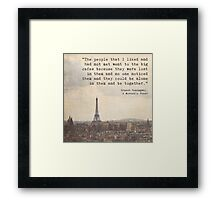 Hemingway in Paris Framed Print