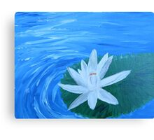 Serene Painted White Lotus Canvas Print