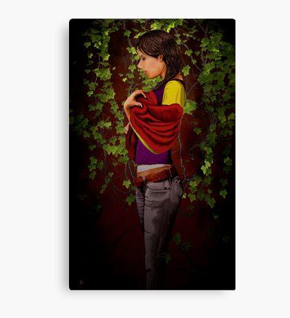 A Woman Waiting Canvas Print