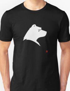 Polar Bear Silhouette Portrait Unisex T-Shirt