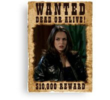 Buffy Faith Wanted Eliza Dushku Canvas Print