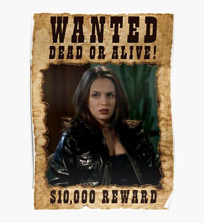 Buffy Faith Wanted Eliza Dushku Poster