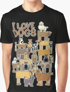 I Love Dogs Graphic T-Shirt
